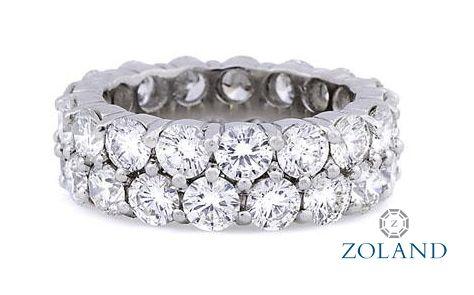 Round Diamond Double Row Eternity Band #diamond #ring