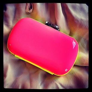 Corto Moltedo clutch so neon it's practically electric #Bags #Neon