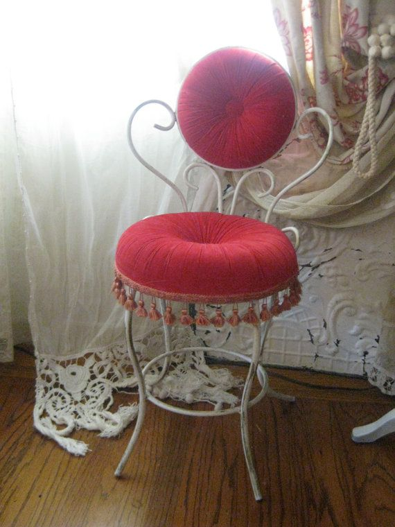 Scintillating Vanity Chair Red Pictures - Best image 3D home ...