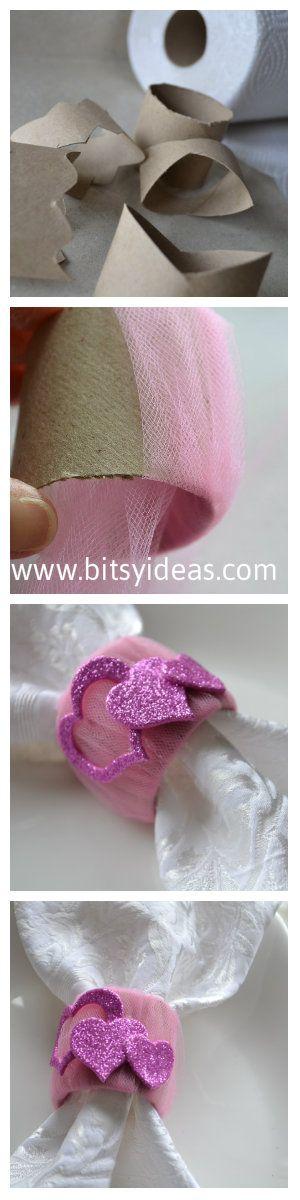 Diy napkin rings for Valentine's Day
