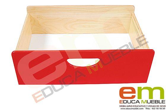 #Contenedor #grande de #madera BIS en varios #colores. #Mobiliario #educativo para muebles de serie D y M- Tienda Educamueble