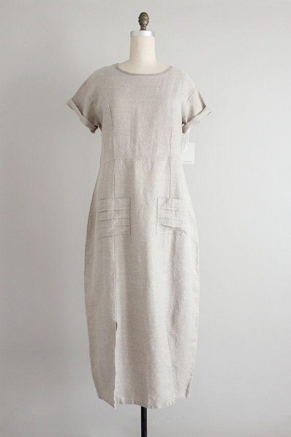 oversized linen dress / baggy dress / minimalist by allencompany