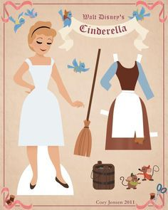 cinderella paper doll 1 | paper dolls by cory