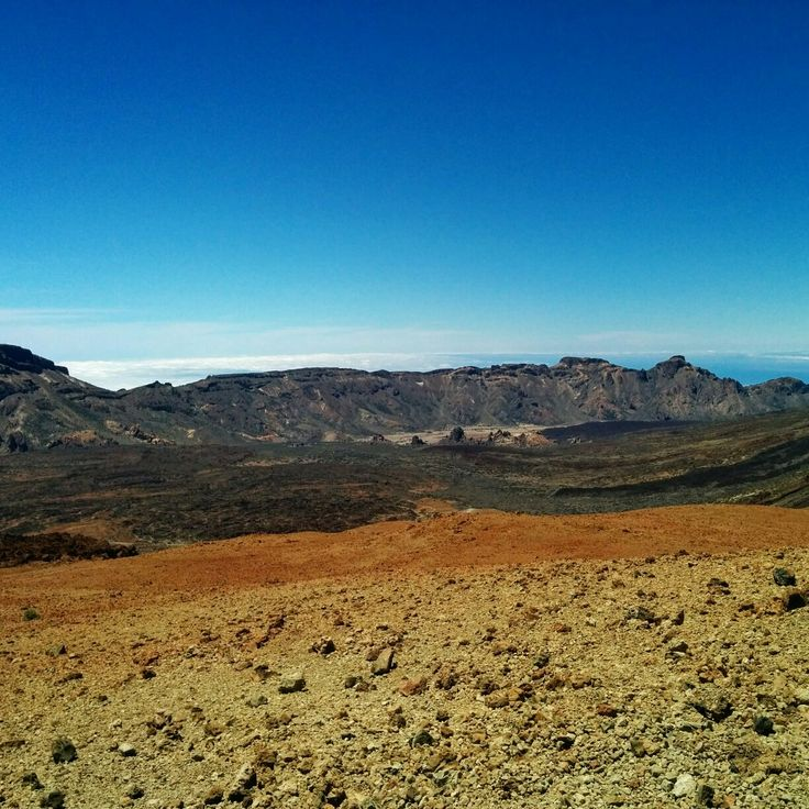 Is it the desert? Nope. Is it Grand Canyon? I guess not. Is it the moon? Not really. What is it then?  Teide National Park.