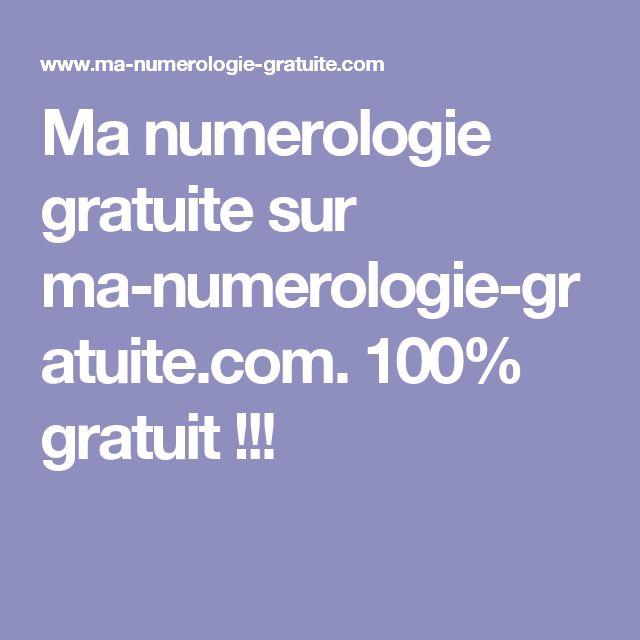 Ma numerologie gratuite sur ma-numerologie-gratuite.com. 100% gratuit !!!