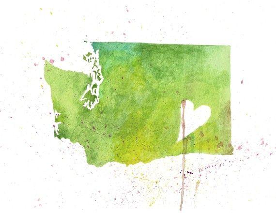 Washington Love by poppyandpinecone (on Etsy) #washington