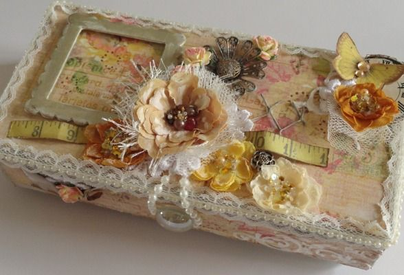 Altered Shabby Chic Fairy Box | wowthankyou.co.uk