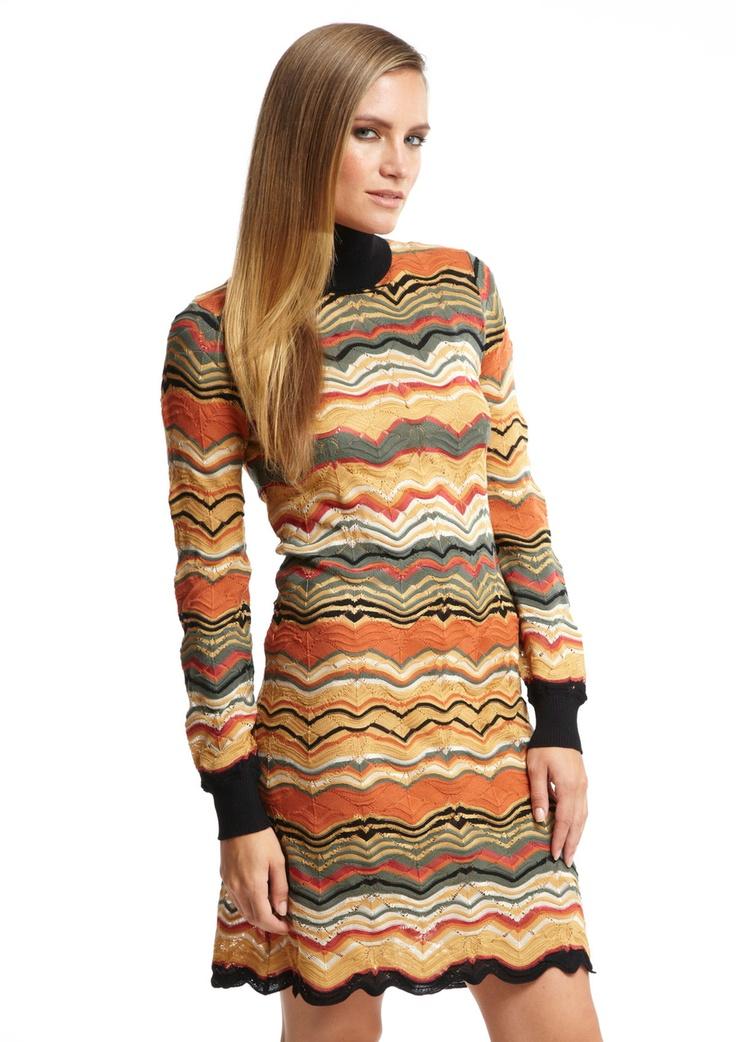 M Missoni - Long Sleeve Turtleneck Dress.