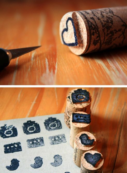 These cork stamps are such a great idea to try! Love it ^^