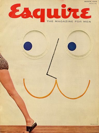 U.S. Esquire cover, March 1955 // henry wolf