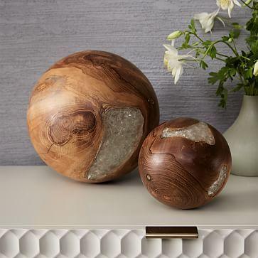 Wood + Resin Sphere #westelm
