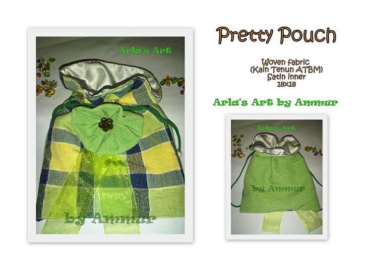 Pretty Pouch Woven fabric Satin inner