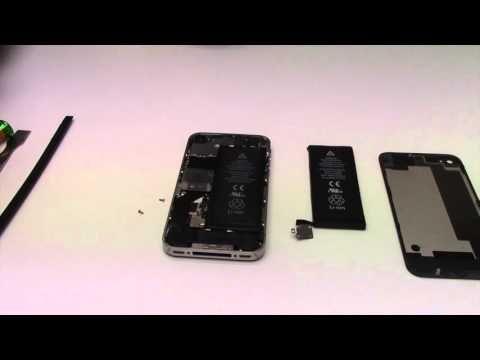 Tuto : Changer batterie iPhone 4S - YouTube