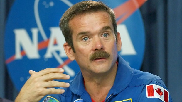 Astronaut Chris Hadfield. Canadian Commander of the International Space Station.