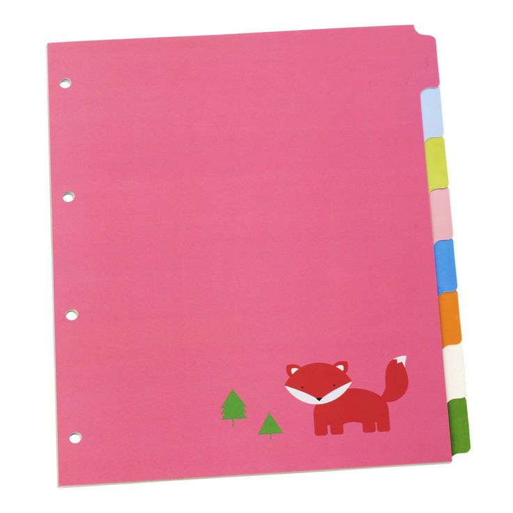 These super cute A4 Divider Tabs are the perfect match to your 2D Ring Binder. Organise notes and paperwork in style. #backtoschool