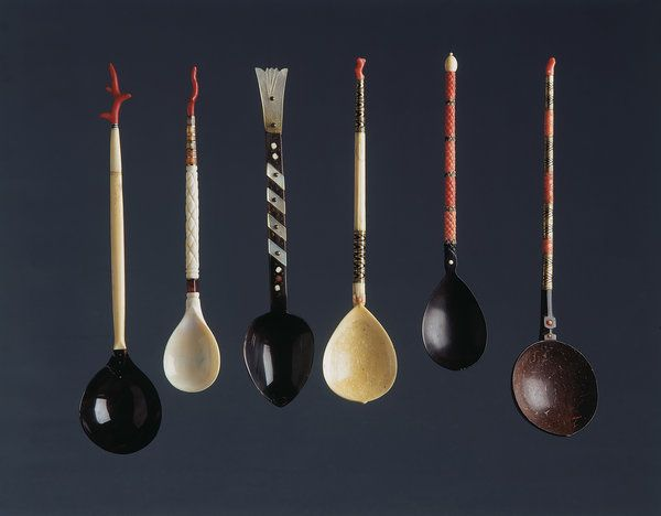 A Fine Collection of Six Ottoman Sherbert Spoons (1700 to 1900 Turkish)