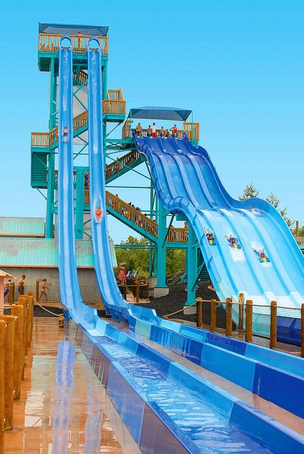 white water kalani towers branson missouri aka the wedgie slide