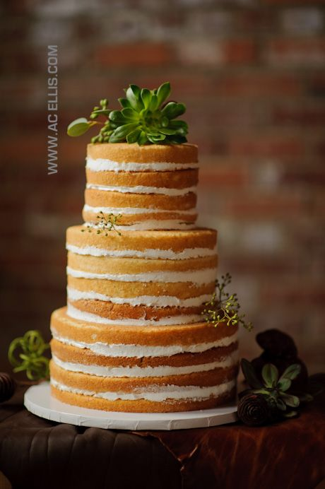 Heres A Without Icing Wedding CakeRustic Naked Cake