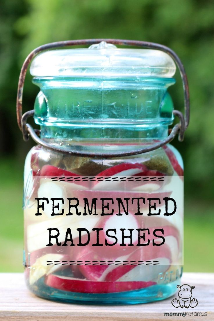 """Fermenting radishes takes some of the """"bite"""" out of their flavor, replacing it with a slightly garlicky tang. Both of my kids have been known to ask for second and third helpings when this dish makes it to our dinner table. #fermentedradishrecipe #probiotics"""