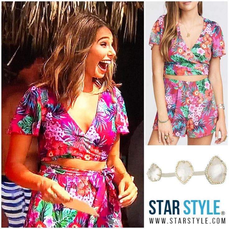 Sarah Vendal wearing Show Me Your Mumu and Kendra Scott on Bachelor in Paradise #bachelorinparadise #sarahvendal  Shopping info at www.starstyle.com