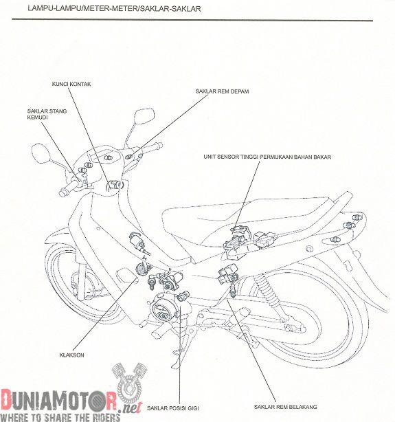 Jalur Kabel Body Supra X 125 Lengkap [Buku Manual]