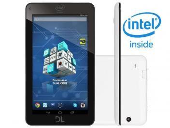 "Tablet DL X-Pro Dual 8GB Tela 7"" Wi-Fi Android 4.4 - Proc. Intel Dual Core Câm. 2MP + Frontal"