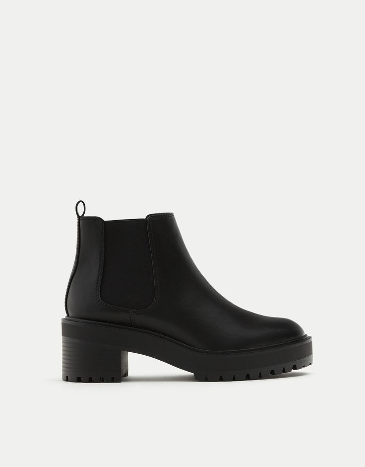 Elastic Chelsea Ankle Boots- Pull & Bear
