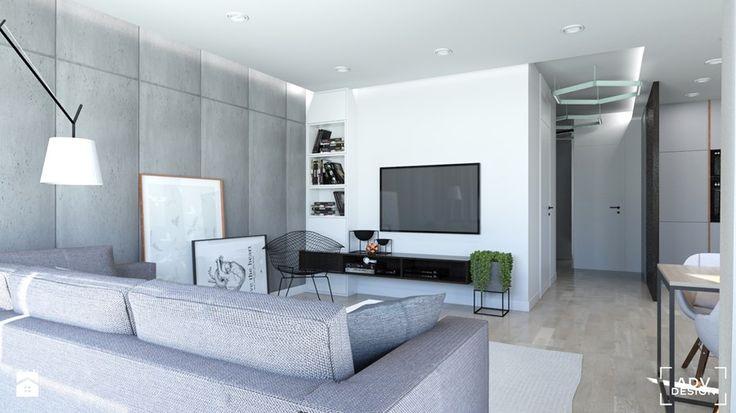 63 m2 - Salon, styl nowoczesny - zdjęcie od ADV Design