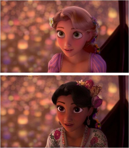 I wish this had happened. When I first heard Disney was coming out with another princess, (Rapunzel) I despirately hoped it would be a Hispanic princess. But it wasn't. I was sad.