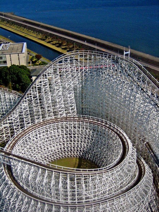 Best Coaster Envy Images On Pinterest Roller Coasters - Pedal powered skycycle rollercoaster japan amazing