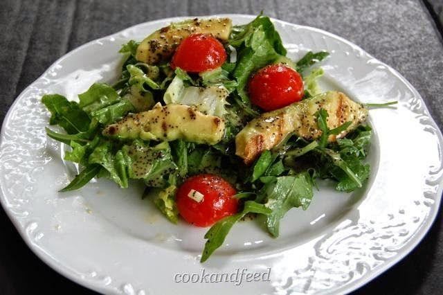 COOKANDFEED : σαλάτα με αβοκάντο και παπαρουνόσπορο/Avocado and Poppy Seed Salad
