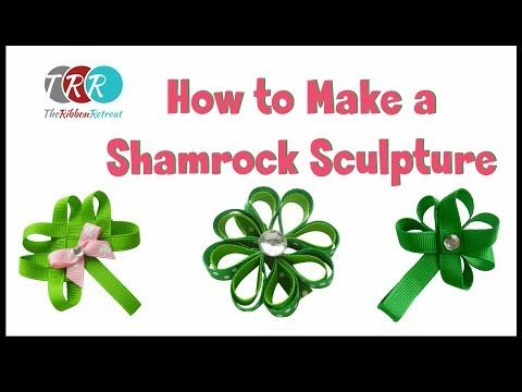 How to Make a Shamrock Ribbon Sculpture - TheRibbonRetreat.com.  (note to self: celtic knot look- on far left starts @ 8:55)