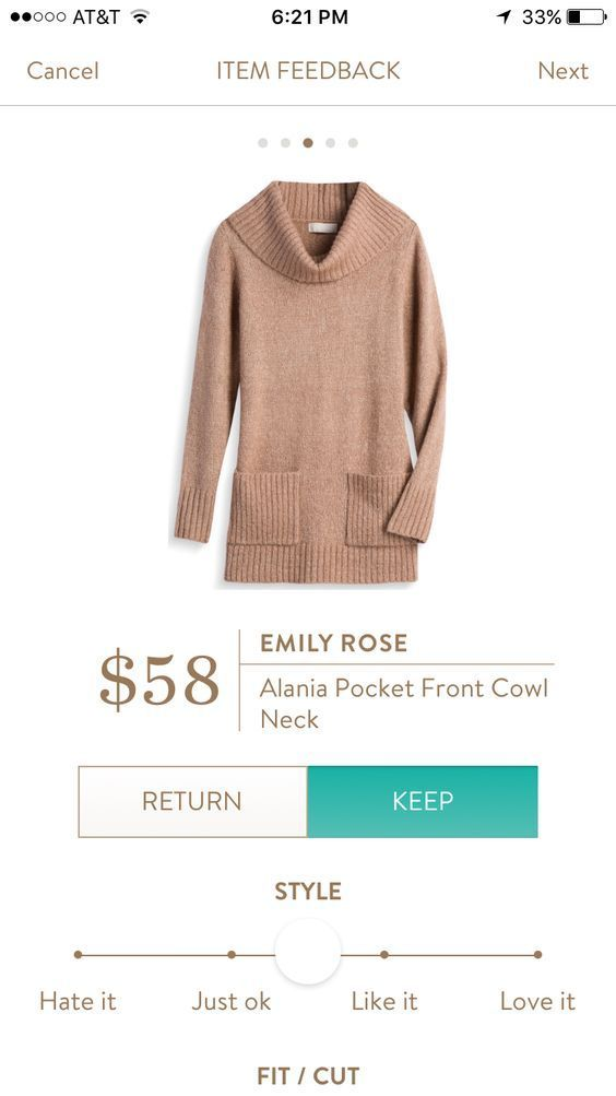 EMILY ROSE ALANIA POCKET FRONT COWL NECK. Stitch Fix Fall fashion trends! 2017 #sponsored #influencer Camel sweater great to pair with leggings
