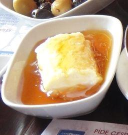 Turkish breakfast, kaymak (clotted cream) with honey