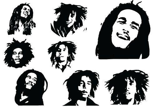 Bob Marley Silhouette - The Everlasting Delightful MusicSilhouette Clip Art