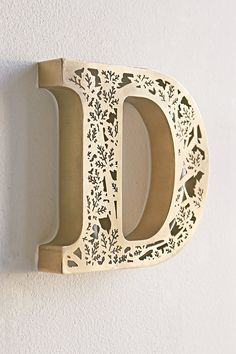 Acid Etched Letter - Urban Outfitters: