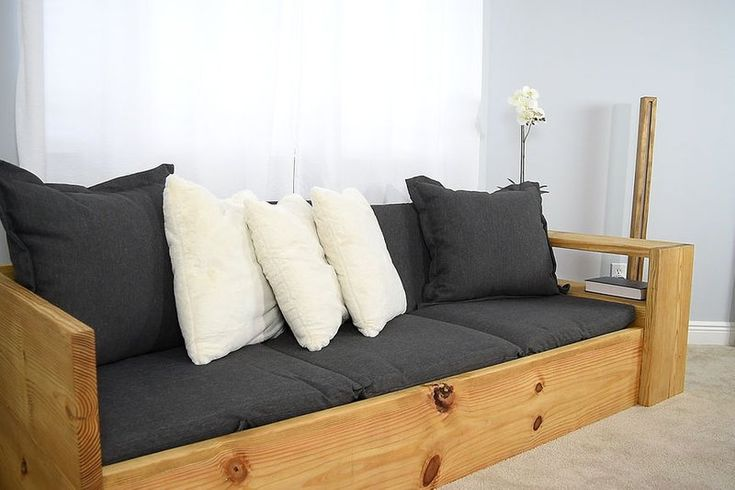 How to Make a SOFA That Turns Into a BED Sofa bed wood