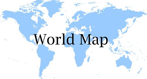 Printable world map for kids Make learning countries