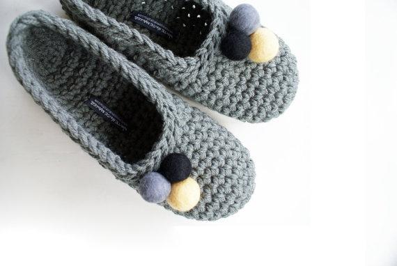 Maglia e Rimaglia: Pantofole all'uncinetto