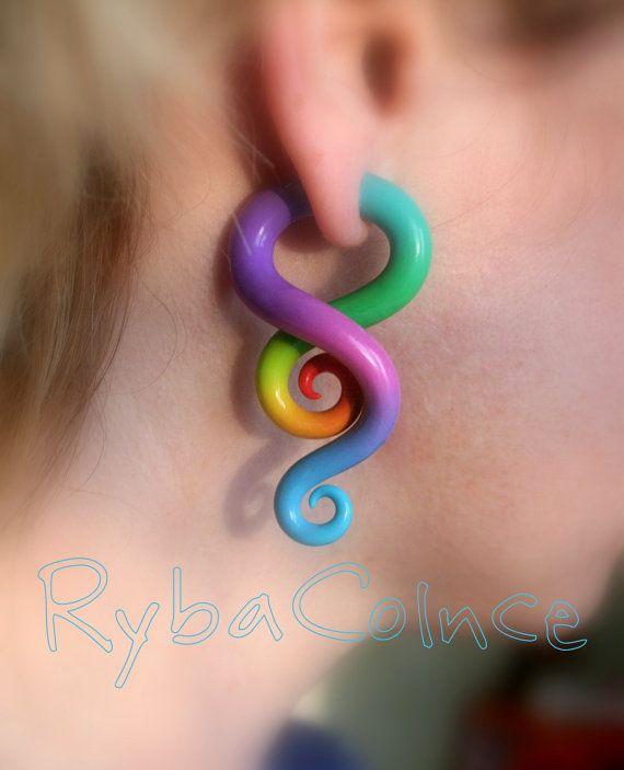 Fake ear gauge / Faux gauge/Gauge earrings / fake by RybaColnce, $22.00