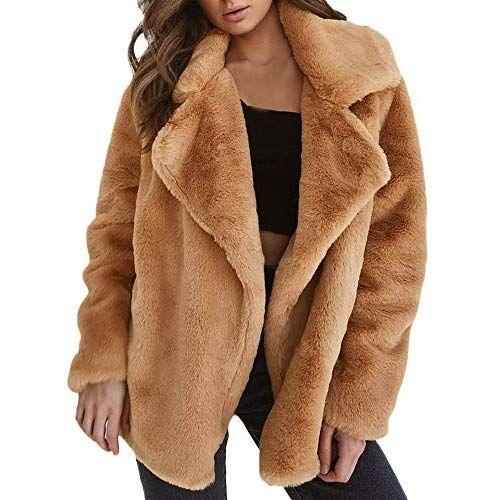 hot sale online 7721e 951ae WUSIKY Damen/Mädchen Teddy-Mantel Sherpa-Mantel Warme ...