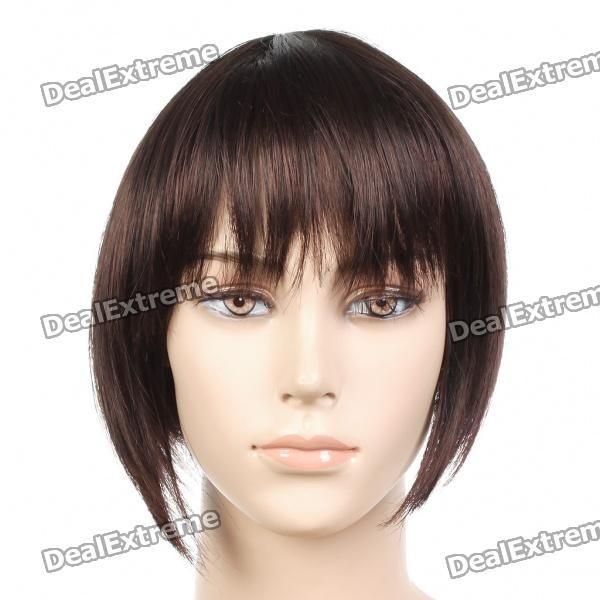 Fashion Short Straight Hair Wigs - Brown