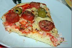 Pizza de Liquidificador com fermento de pão