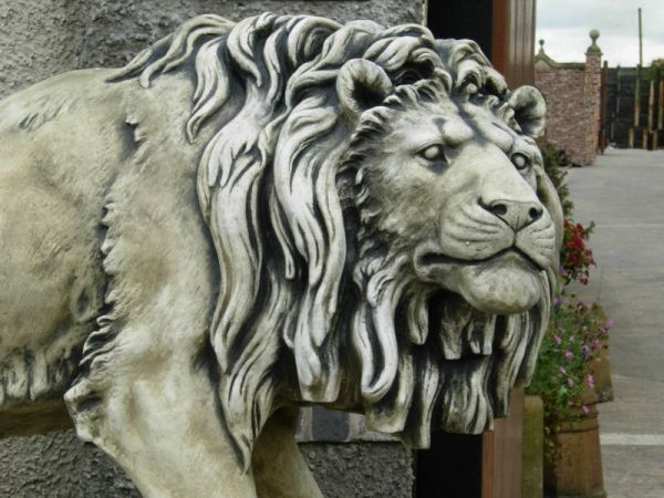 The Magnificent Life Size Stone Lions WIll Make A Beautiful Feature £4700.00 A Pair  UK & Worldwide Delivery Available