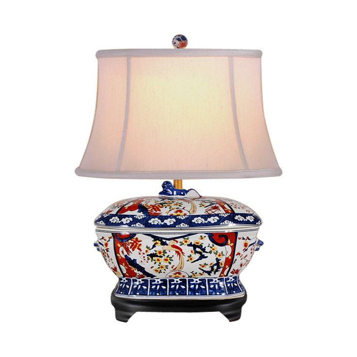 "Chinese Imari Porcelain Tureen Table Lamp 21"""