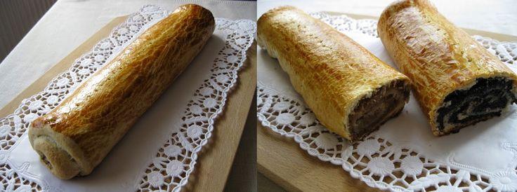 Bejgli. Poppy seed and walnut rolls