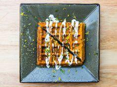 Falafel-Waffel Rezept, Geschmack Stadt Rezept für Falafel-Waffel, Kichererbse Waffel Das Ei einfach mit Chiasamen oder Leinsamen ersetzen aber vorher in Wasser einweichen!