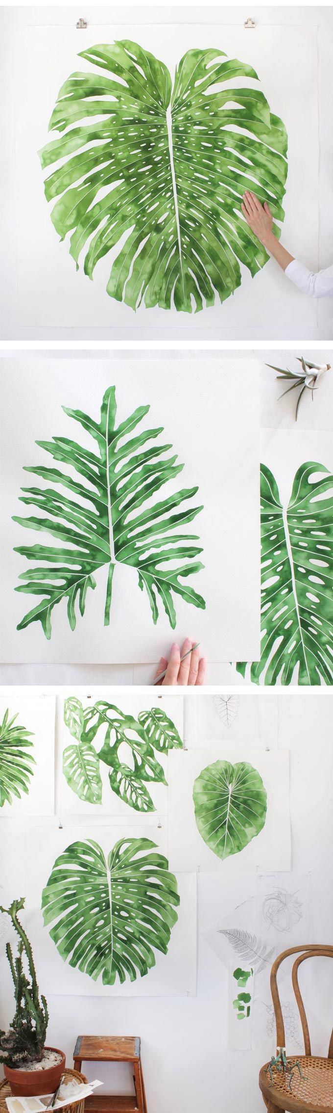 Big, bold, and beautiful—that's how I describe the work of Jenny Kiker, aka Living Pattern. #plantart #plantillustration