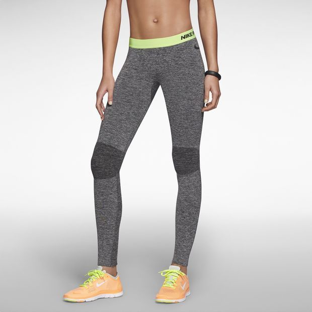 Nike Pro Hypercool Women's Training Capris - black, gray, and red