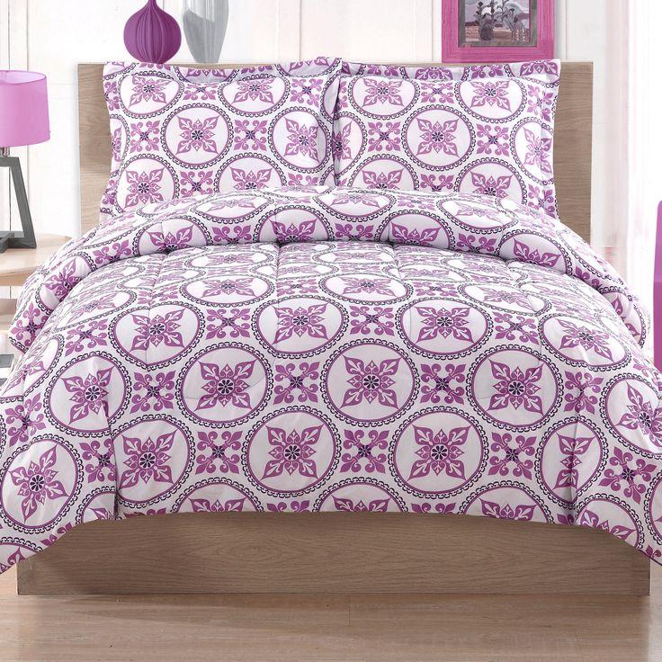 cosmo girl baroque circles comforter set purple bedroom ideas - Purple Comforters
